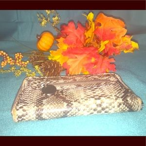 Coco & Lilly's faux snakeskin zip around wallet.